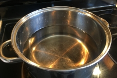 Boiling maple sap