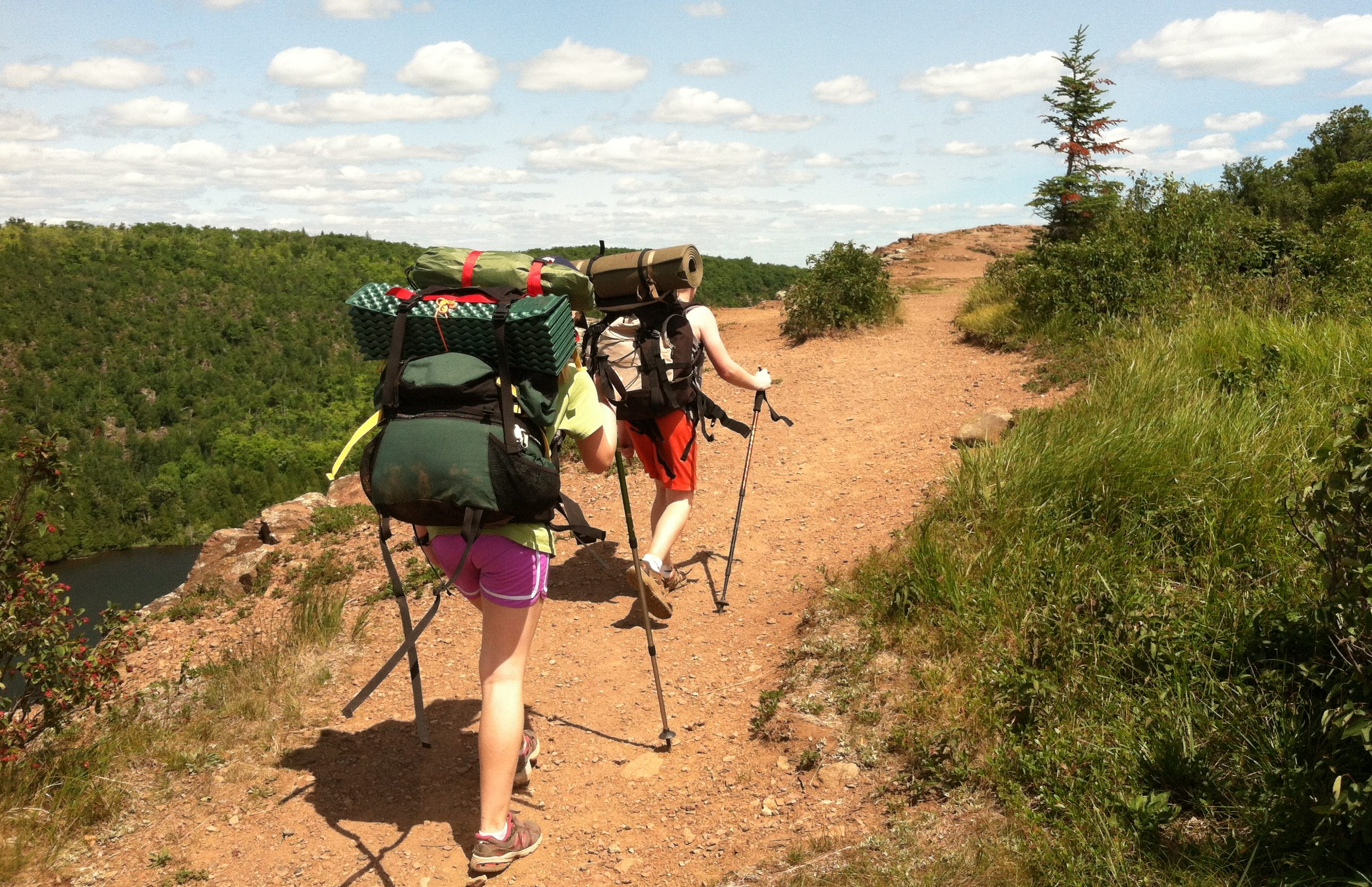Kids Hike Through Tettegouche