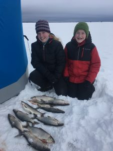 Tullibee ice fishing