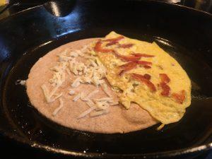 Chicken of the woods breakfast burrito